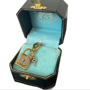Juicy Couture Rhinestone Key and Padlock Charm